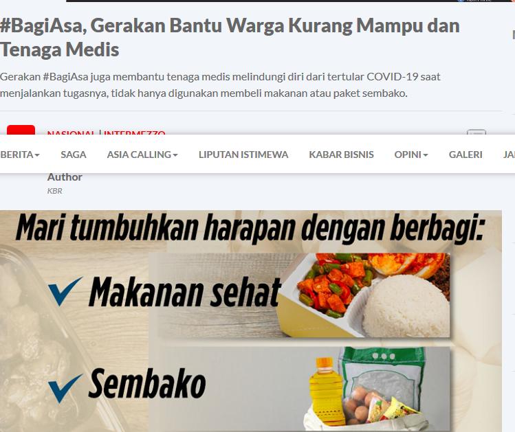 Screenshot_2020-04-20 #BagiAsa, Gerakan Bantu Warga Kurang Mampu dan Tenaga Medis - kbr id